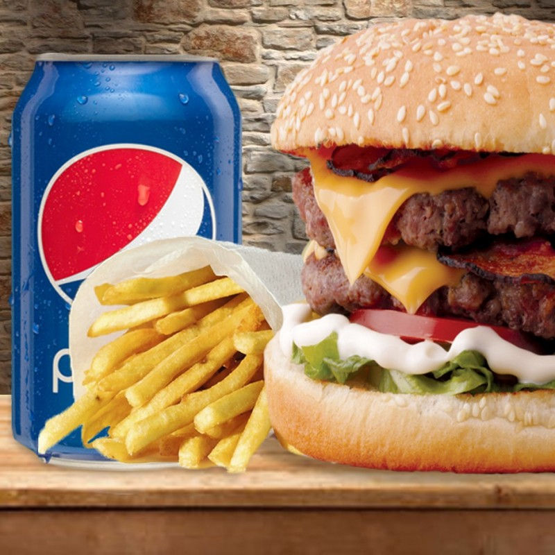 DOUBLE CHEESE BURGER 240G